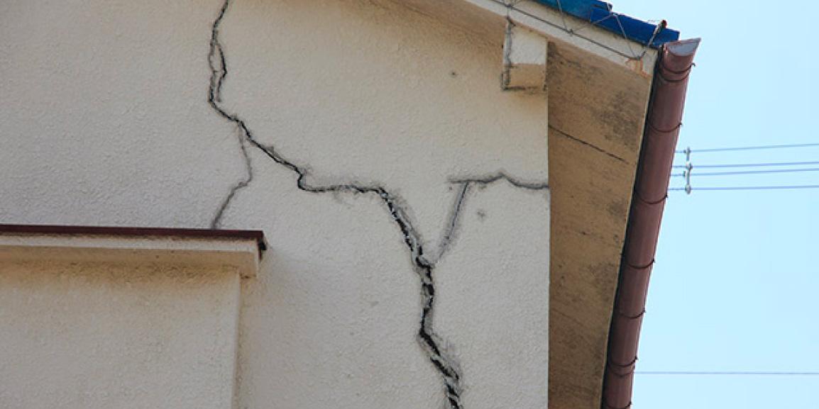 Exemple d'anomalies constructives sur une maison fissuré